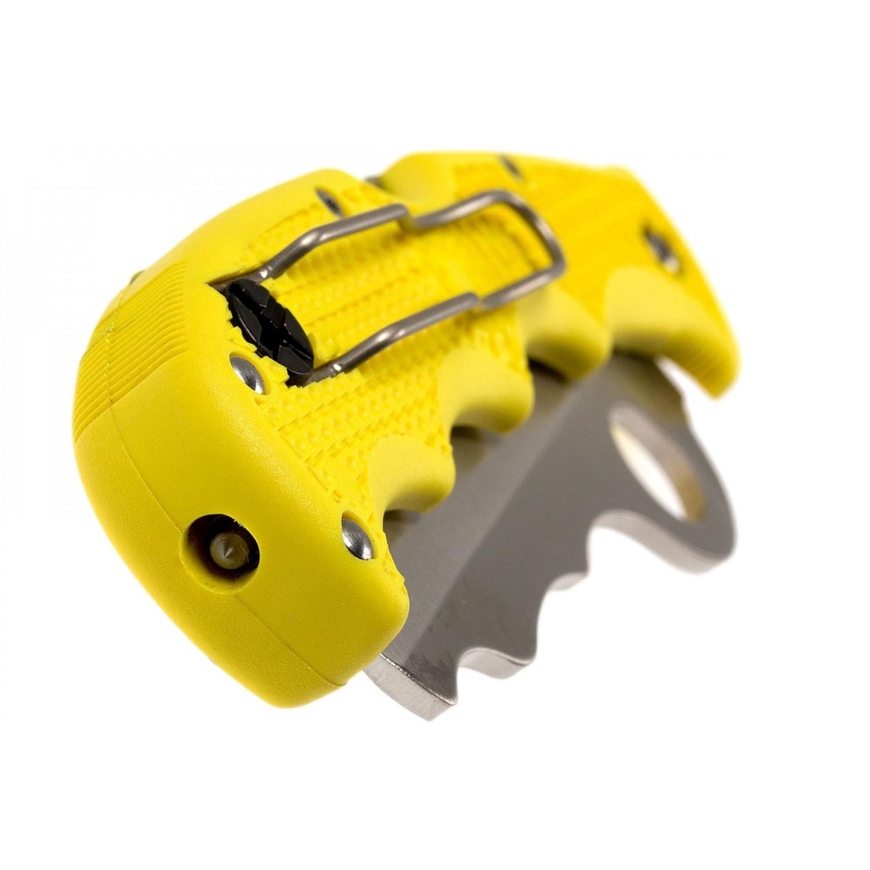 Фото 8 - Складной нож Rescue Assist™ Salt Yellow - Spyderco 79PSYL, сталь H-1 Satin Serrated, рукоять термопластик FRN, жёлтый