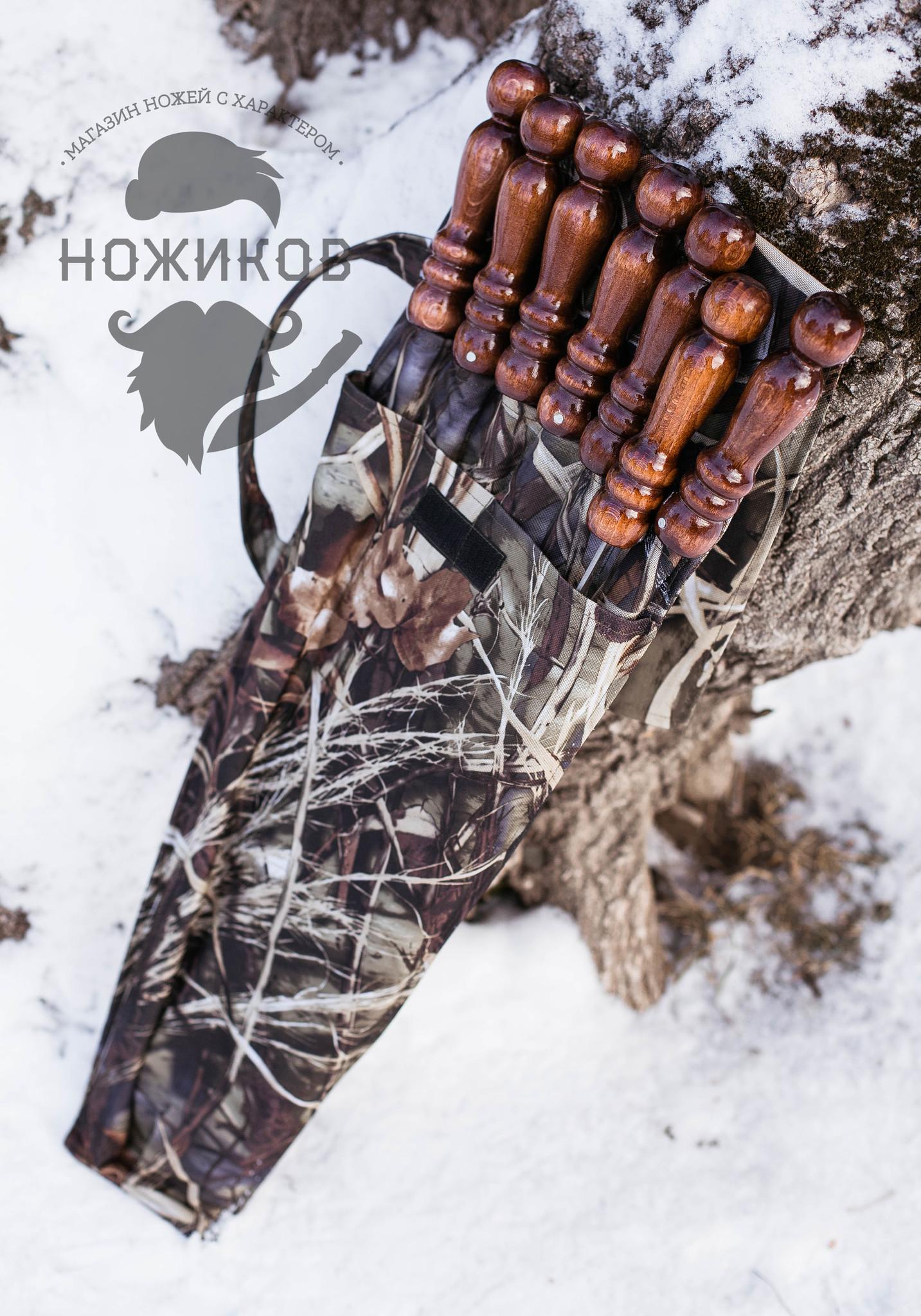 Фото 10 - Набор из 6-ти шампуров с мангалом