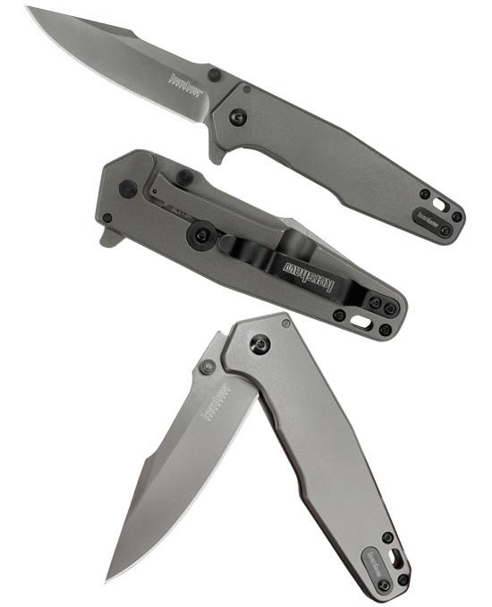 Фото 4 - Складной полуавтоматический нож Kershaw Ferrite K1557TI, сталь 8Cr13MoV, рукоять нержавеющая сталь