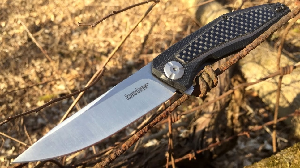 Фото 5 - Нож складной Atmos - Kershaw 4037, сталь 8Cr13MoV, рукоять G10/карбон