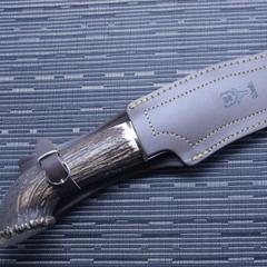 Нож с фиксированным клинком Muela Lobo, сталь X50CrMoV15, рукоять резной олений рог, фото 3