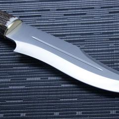 Нож с фиксированным клинком Muela Lobo, сталь X50CrMoV15, рукоять резной олений рог, фото 5