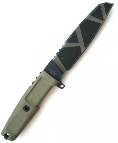 Нож с фиксированным клинком Extrema Ratio Task Desert Warfare, сталь Böhler N690, рукоять прорезиненный форпрен