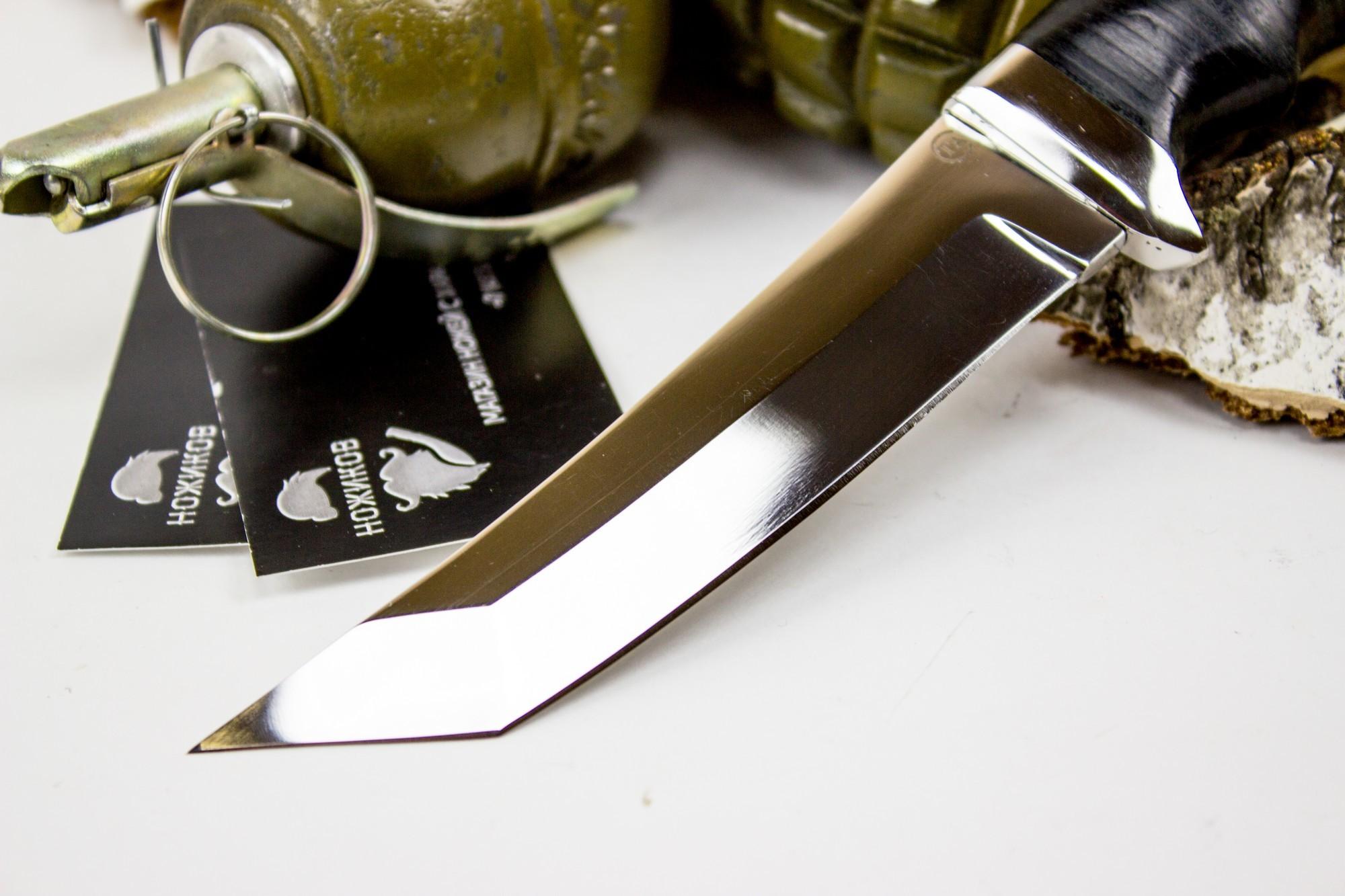 Фото 7 - Нож Аркан, сталь 95х18, кожа от Титов и Солдатова