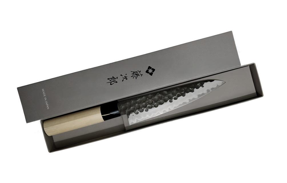 Фото 6 - Нож Поварской Tojiro Hammered Finish, F-1114, сталь VG-10, чёрный, в картонной коробке