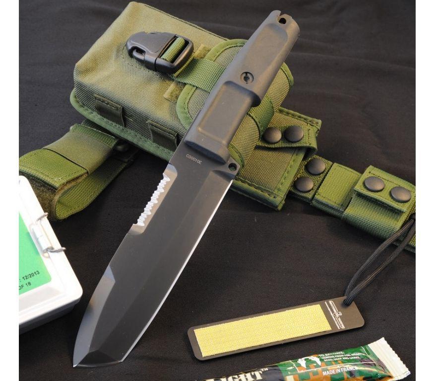Фото 14 - Нож с фиксированным клинком + набор для выживания Extrema Ratio Ontos, Green Sheath (зеленый чехол), сталь Bhler N690, рукоять прорезиненный форпрен