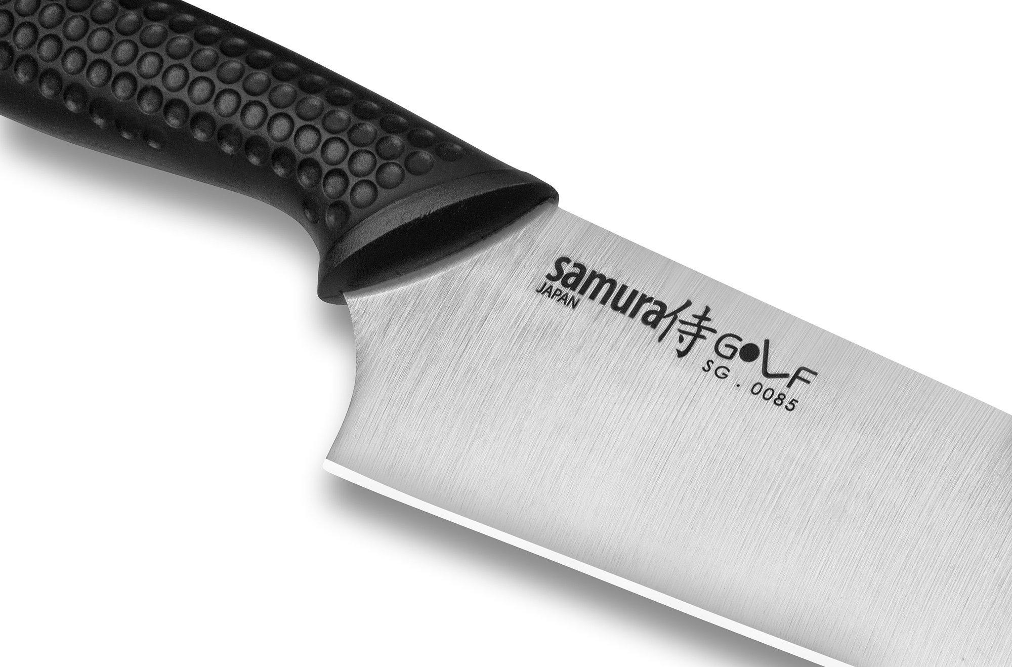 Фото 11 - Нож кухонный Шеф Samura GOLF - SG-0085, сталь AUS-8, рукоять полипропилен, 221 мм