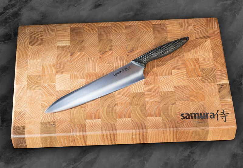 Фото 8 - Нож кухонный Шеф Samura GOLF - SG-0085, сталь AUS-8, рукоять полипропилен, 221 мм