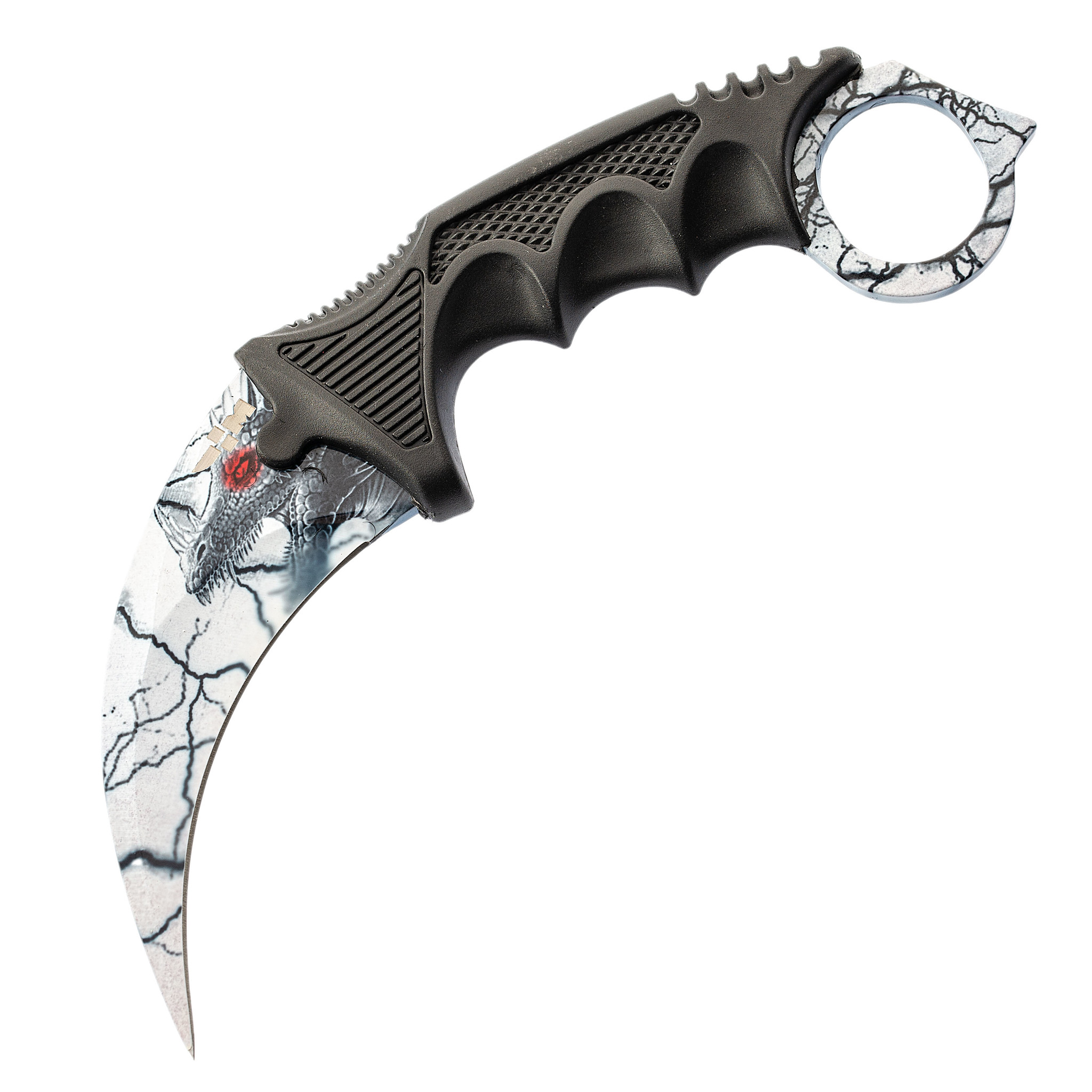 Нож CS GO керамбит Белый дракон от Ножемир