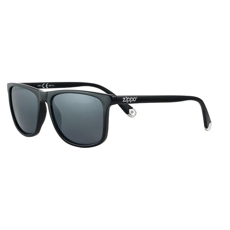Фото - Очки солнцезащитные ZIPPO OB77-01, унисекс, чёрные, оправа из поликарбоната очки солнцезащитные zippo ob70 01 унисекс чёрные оправа из поликарбоната