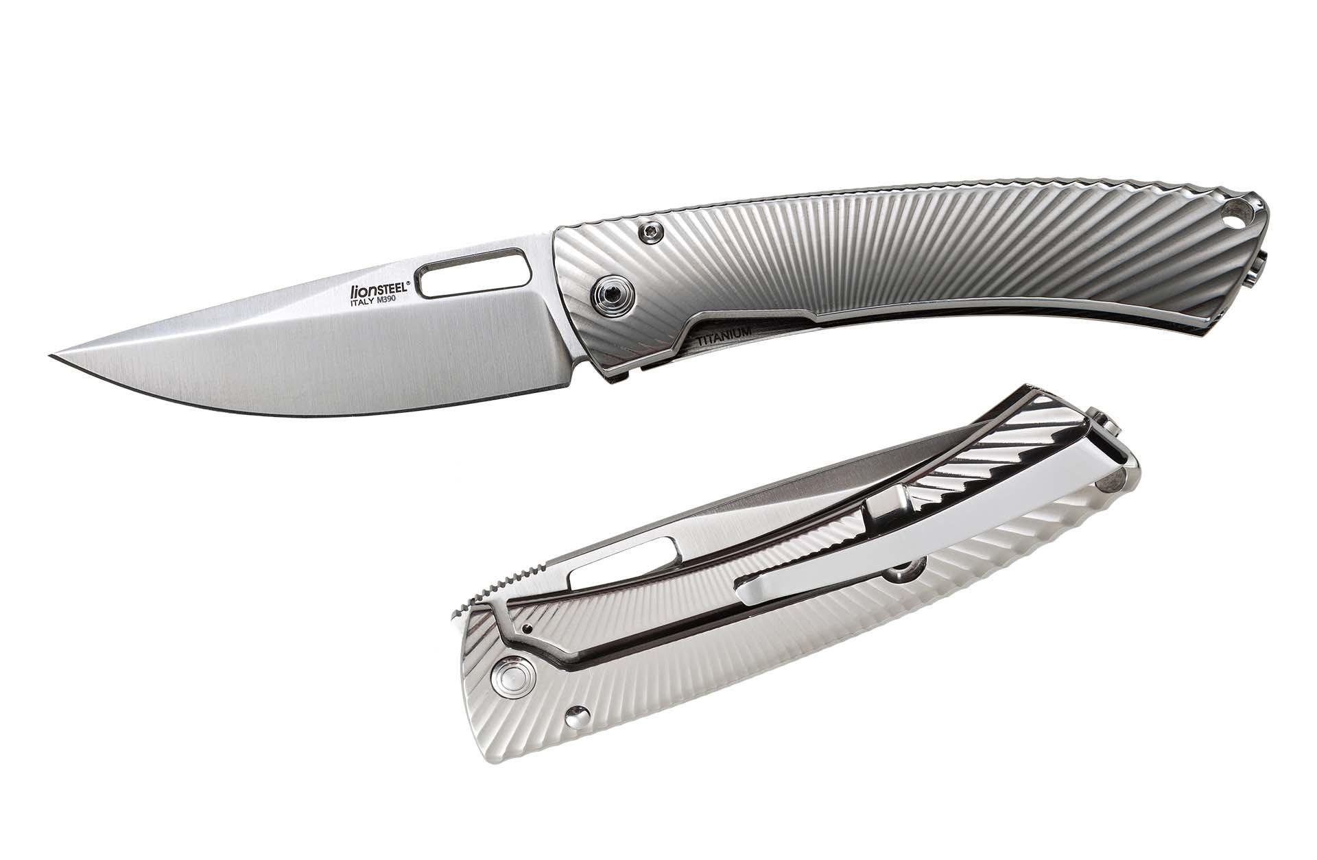 Фото 4 - Нож складной LionSteel TS1 GS, сталь M390, рукоять титан от Lion Steel
