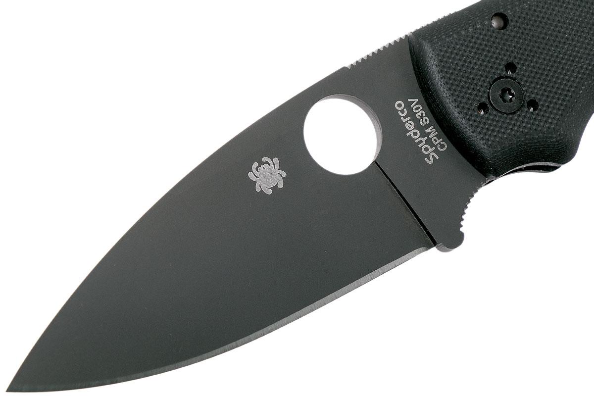 Фото 14 - Складной нож Spyderco Shaman 229GPBK, сталь CPM® S30V™ Black DLC Coated Plain, рукоять стеклотекстолит G10, чёрный