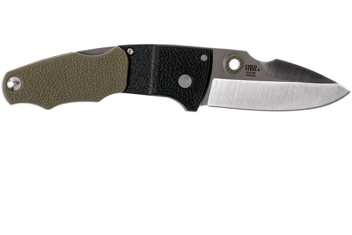 Фото 7 - Складной нож Grik - Cold Steel 28E, сталь AUS-8A, рукоять GFN (термопластик) черно-зеленая