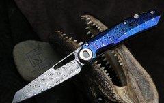 Складной нож CKF Terra, дамасская сталь, рукоять Timaskus, фото 1