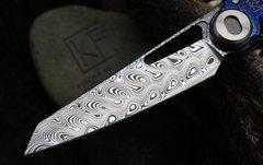 Складной нож CKF Terra, дамасская сталь, рукоять Timaskus, фото 2