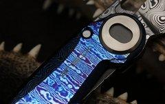 Складной нож CKF Terra, дамасская сталь, рукоять Timaskus, фото 5