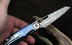 Складной нож CKF Terra, дамасская сталь, рукоять Timaskus, фото 6