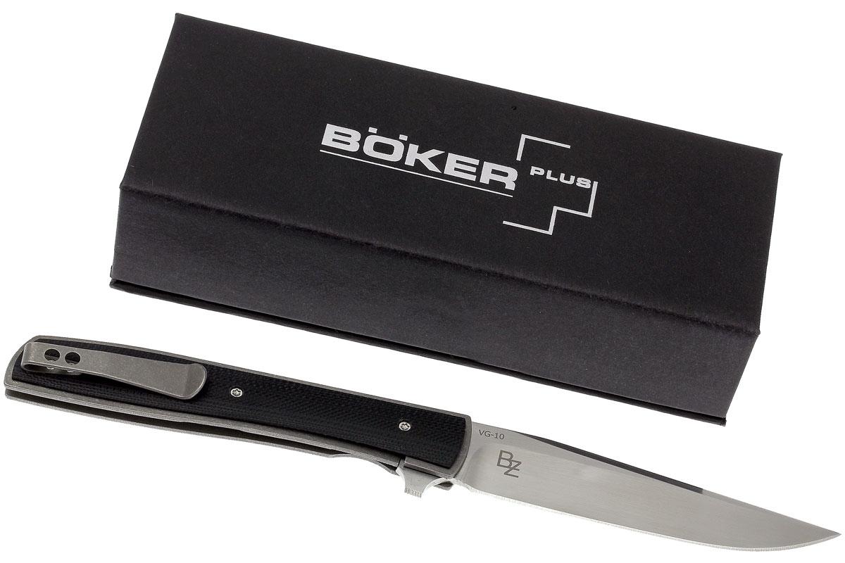 Фото 8 - Нож складной Urban Trapper G10 - Boker Plus 01BO732, сталь VG-10 Satin, рукоять титан/стеклотекстолит G10