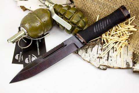 Нож Казак-2, сталь 65Г, резина - Nozhikov.ru