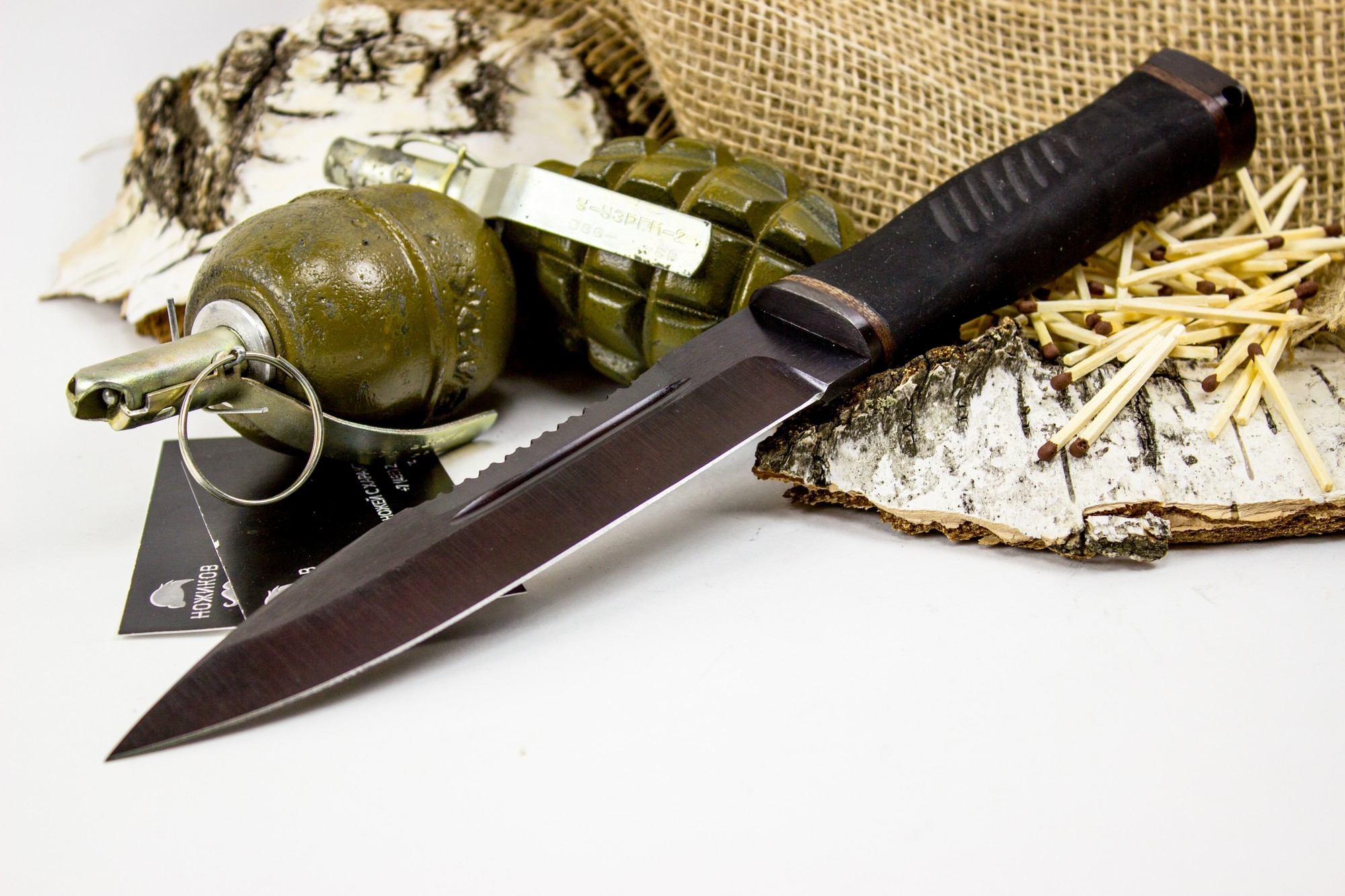 Фото 6 - Нож Казак-2, сталь 65Г, резина от Титов и Солдатова