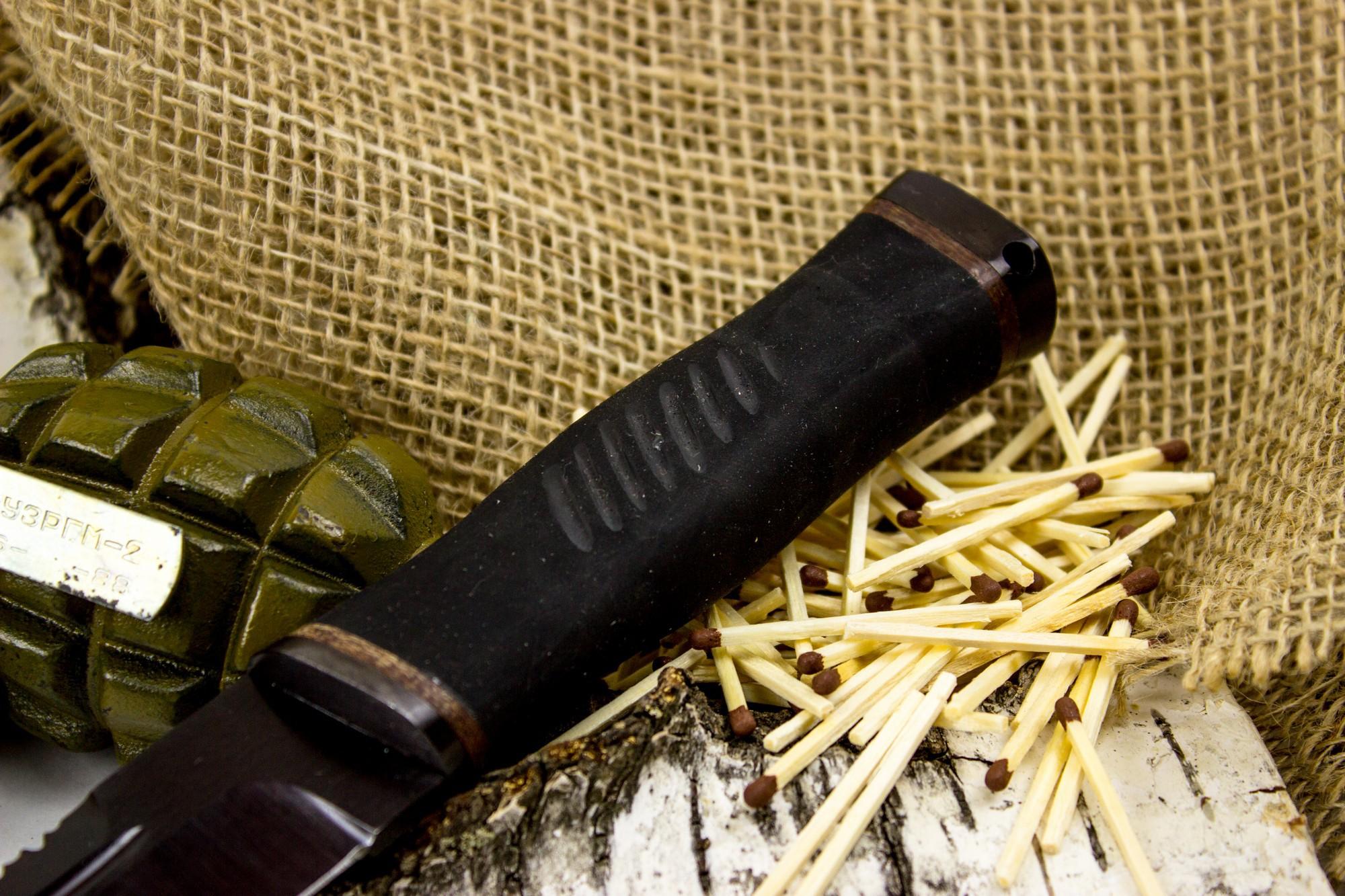 Фото 8 - Нож Казак-2, сталь 65Г, резина от Титов и Солдатова