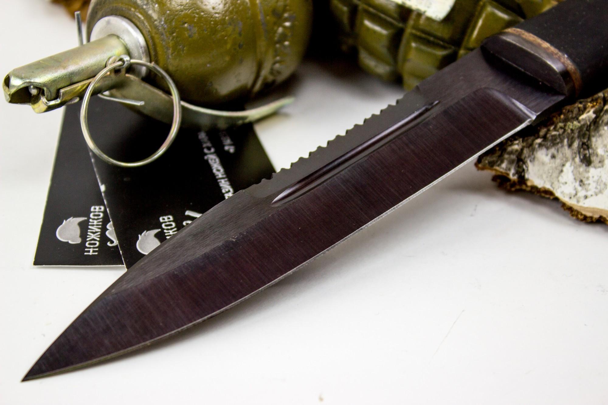 Фото 7 - Нож Казак-2, сталь 65Г, резина от Титов и Солдатова