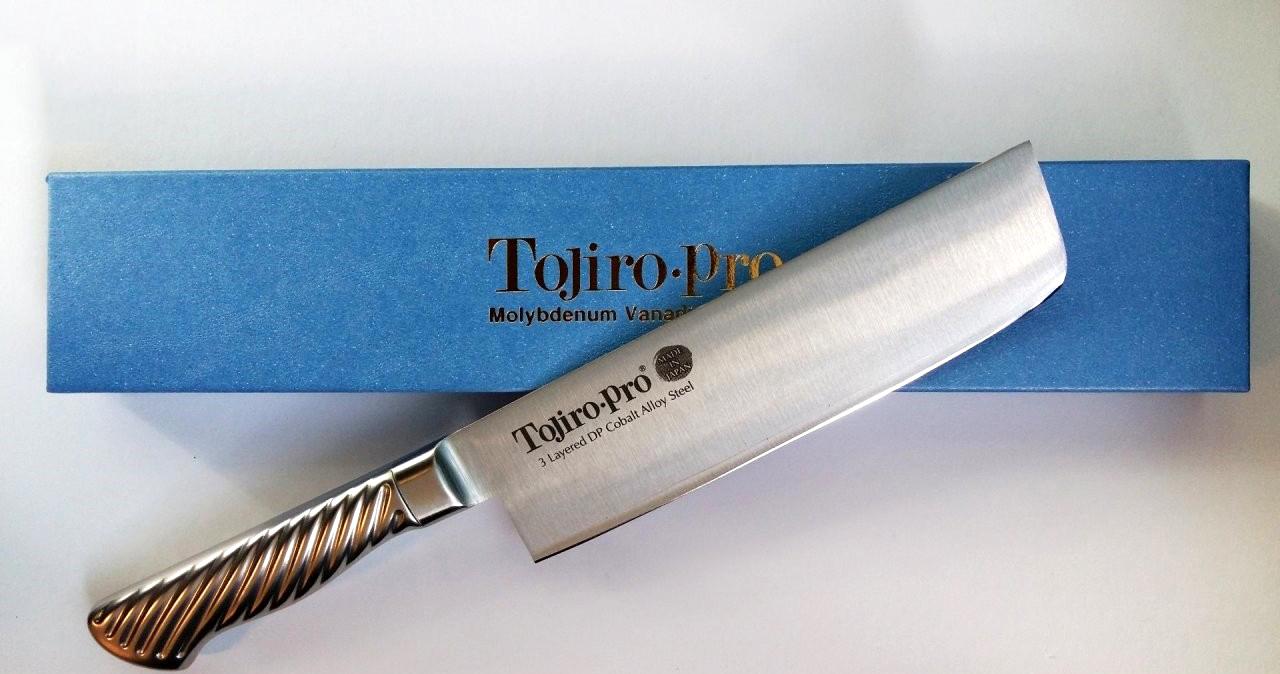 Фото 4 - Кухонный нож для овощей Накири, Pro, TOJIRO, F-894, сталь VG-10, в картонной коробке