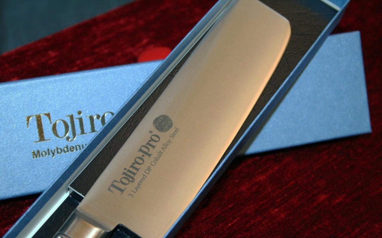 Фото 5 - Кухонный нож для овощей Накири, Pro, TOJIRO, F-894, сталь VG-10, в картонной коробке