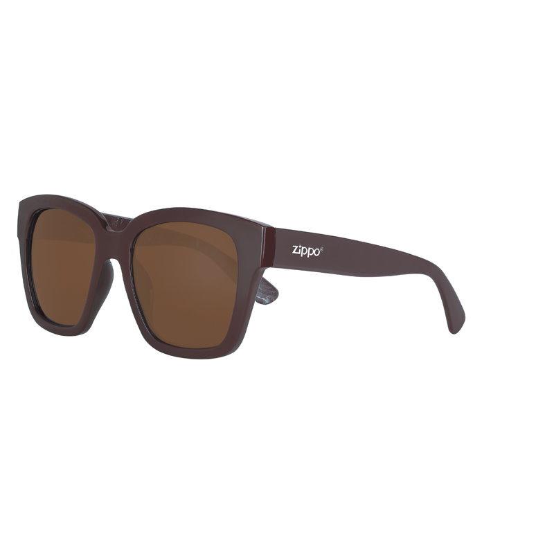 Фото - Очки солнцезащитные ZIPPO OB92-01, унисекс, коричневые, оправа из поликарбоната очки солнцезащитные zippo ob70 01 унисекс чёрные оправа из поликарбоната