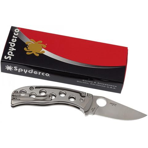 Нож складной PITS™ (Pie in the Sky) Spyderco 192TIP, сталь N690Co Satin Plain, рукоять титан. Вид 3