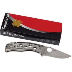 Нож складной PITS™ (Pie in the Sky) Spyderco 192TIP, сталь N690Co Satin Plain, рукоять титан, фото 3