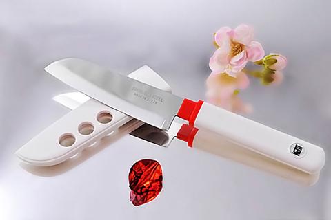 Кухонный нож овощной, Special Series, Fuji Cutlery, FК-404, сталь Sus420J2, белый. Вид 4