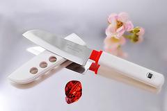 Кухонный нож овощной, Special Series, Fuji Cutlery, FК-404, сталь Sus420J2, белый, фото 4