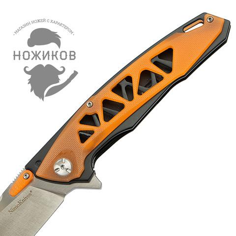 Складной нож Nimo Panther, сталь 440C, оранжевый. Вид 3
