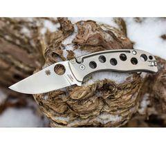 Нож складной PITS™ (Pie in the Sky) Spyderco 192TIP, сталь N690Co Satin Plain, рукоять титан, фото 6