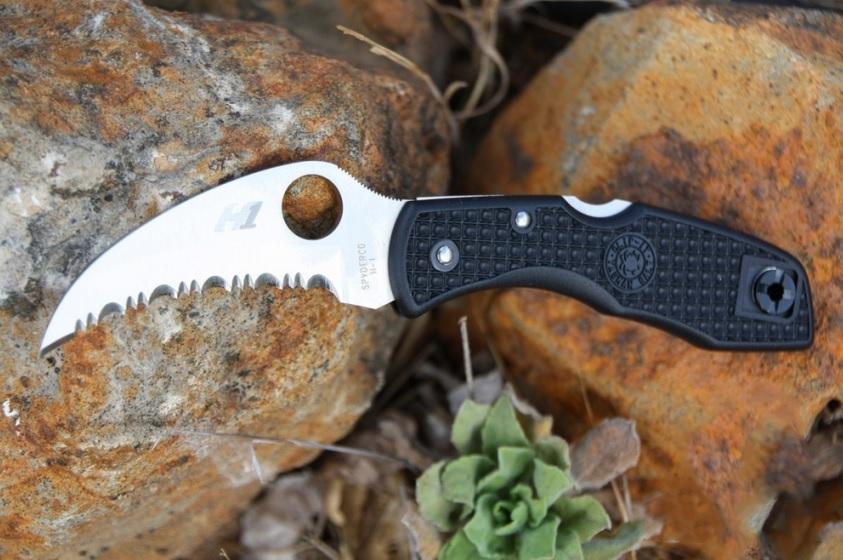 Фото 7 - Нож складной Tasman Salt™ Spyderco 106SBK, сталь H1 Satin Plain, рукоять термопластик FRN, чёрный