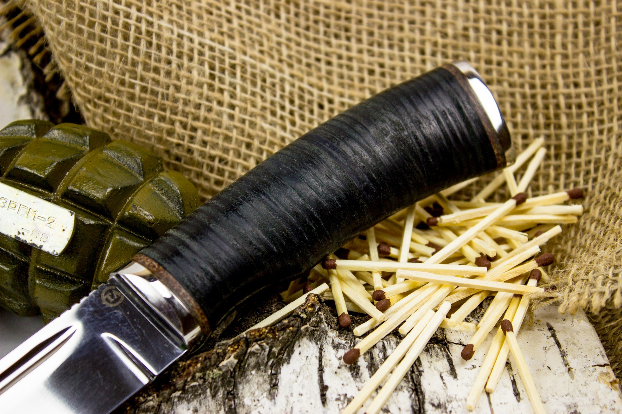 Фото 6 - Нож Русич, сталь 95х18, кожа от Титов и Солдатова