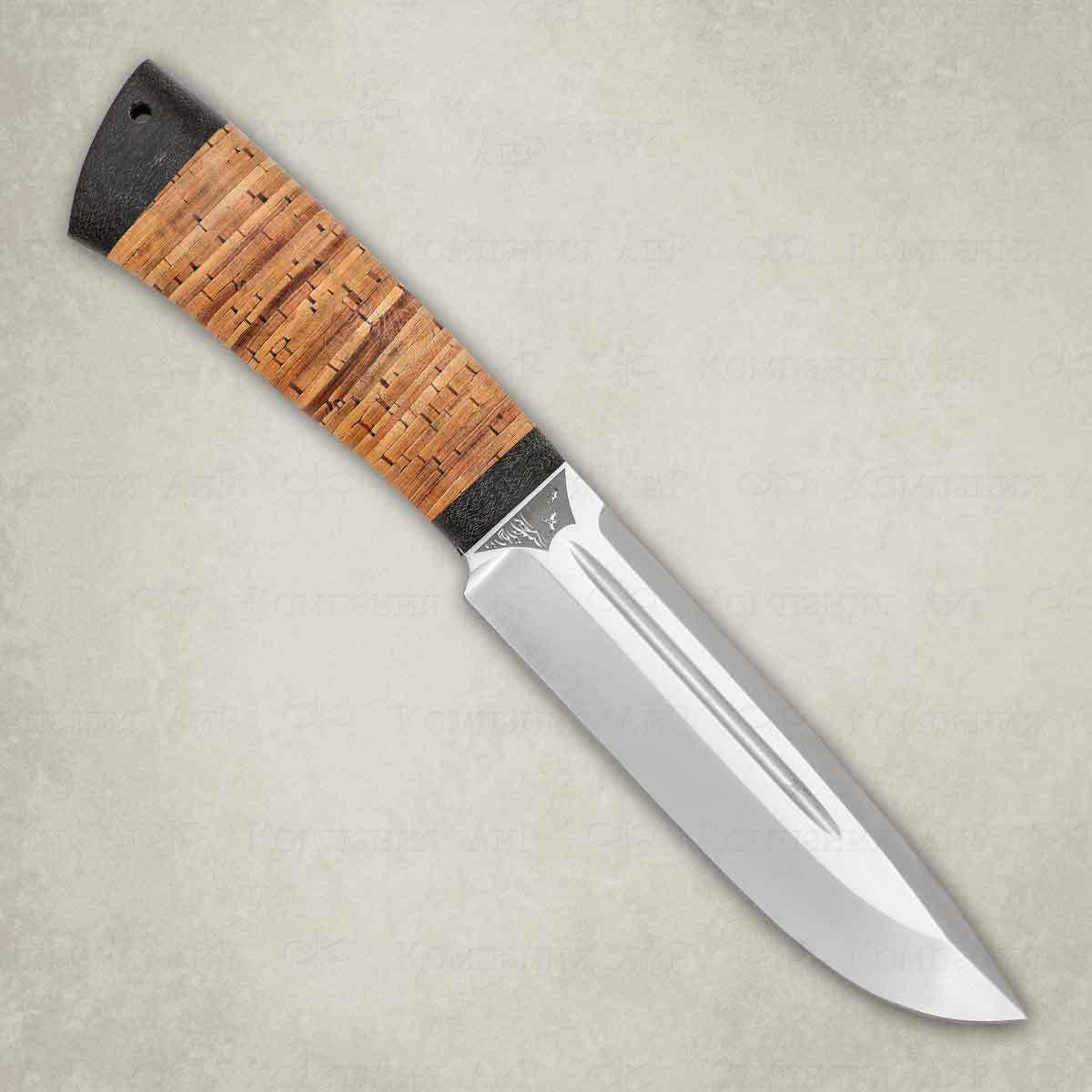 Нож разделочный АиР Селигер, сталь К-340, рукоять береста