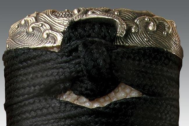 Фото 9 - Меч Wakizashi Cold Steel O Tanto (Emperor Series) 88T, сталь 1060 Carbon, рукоять кожа/намотка