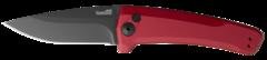 Полуавтоматический складной нож Launch 3 - Kershaw 7300RDBLK Red, сталь Crucible CPM® 154, рукоять анодированный алюминий, красный, фото 5