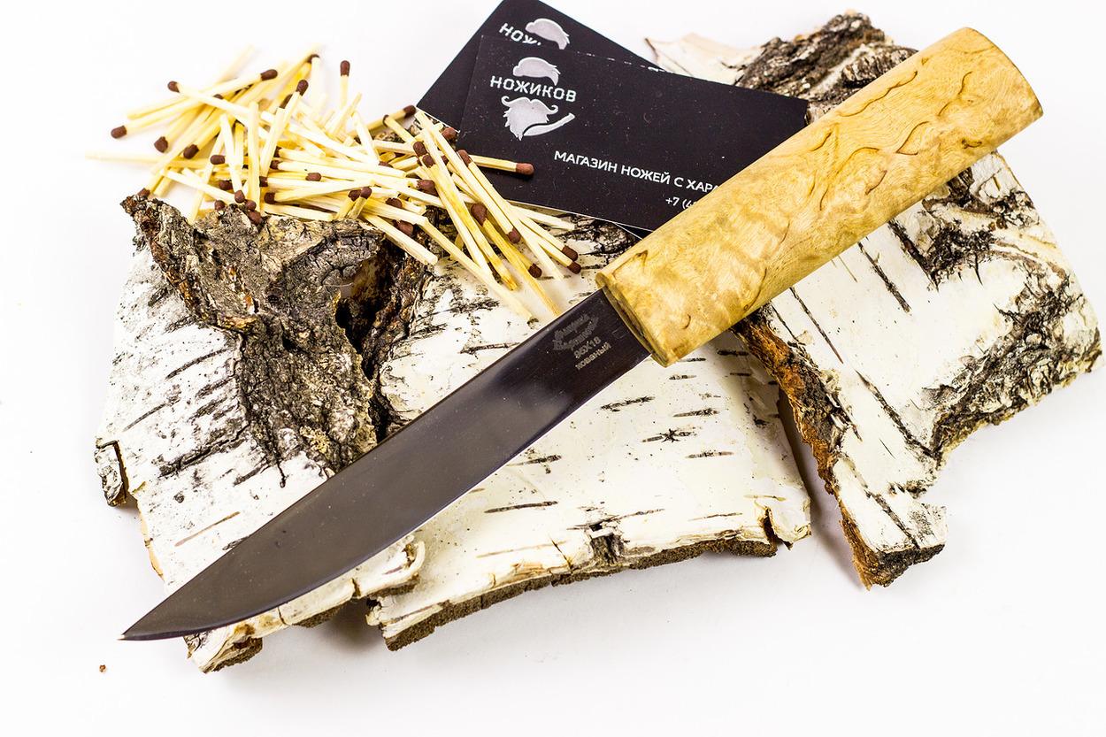 Нож Якут, сталь 95х18, рукоять карельская береза