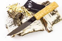Нож Якут, сталь 95х18, рукоять карельская береза, фото 1