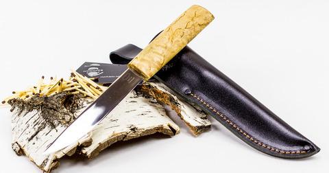 Нож Якут, сталь 95х18, рукоять карельская береза. Вид 3