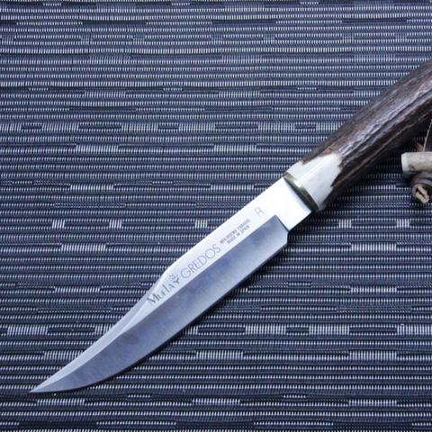 Охотничий нож Muela Gredos, сталь X50CrMoV15, рукоять резной олений рог. Вид 5