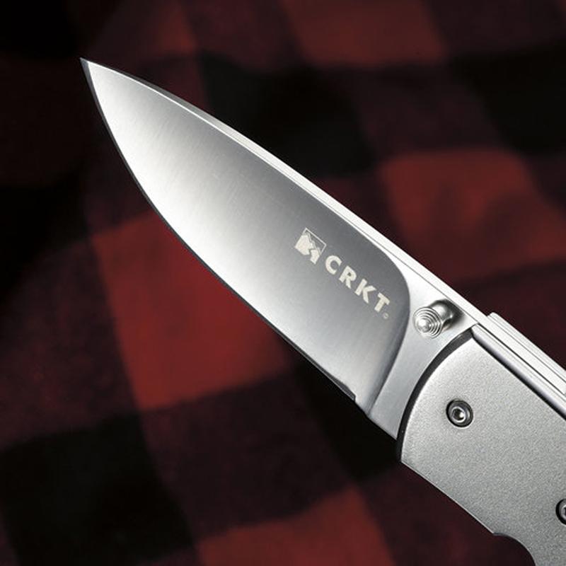 Фото 7 - Складной нож CRKT Kommer 30-30, сталь 1.4116, рукоять Эбеновое дерево