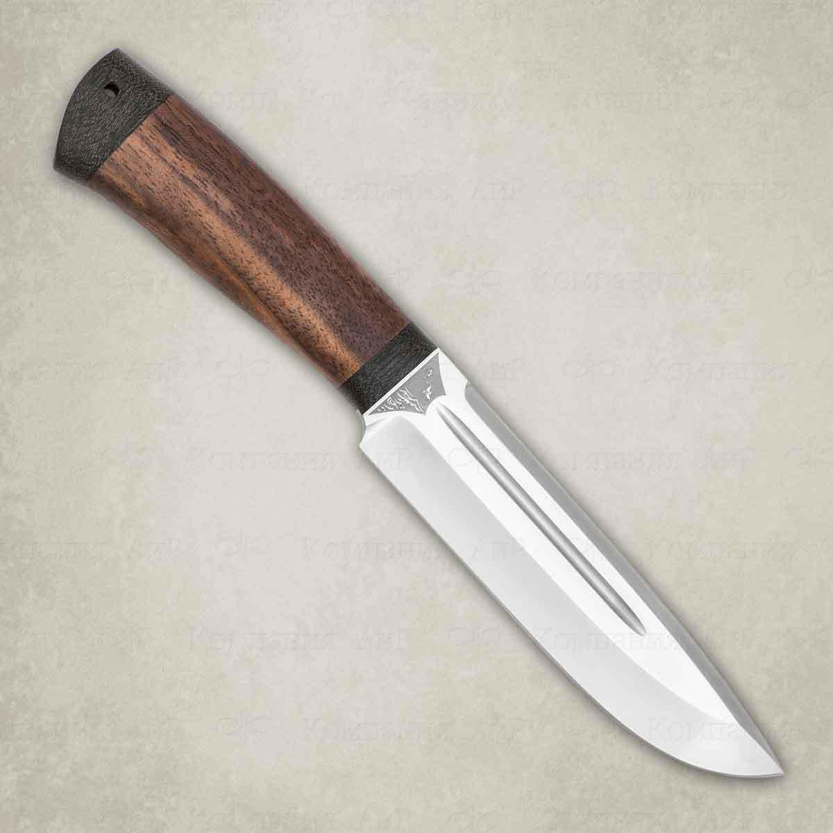 Фото - Нож разделочный АиР Селигер, сталь Elmax, рукоять дерево складной нож wild west сталь elmax рукоять карбон