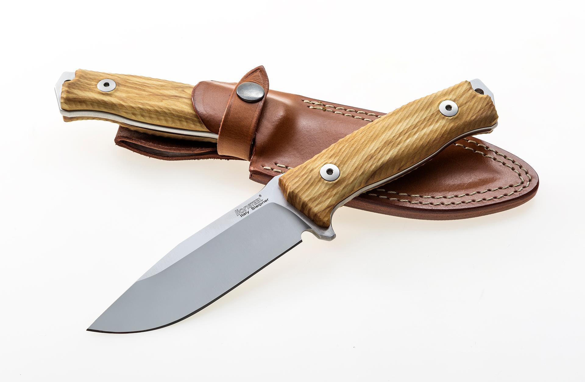 Фото 4 - Нож Lionsteel M5 UL, сталь Sleipner, рукоять оливковое дерево от Lion Steel