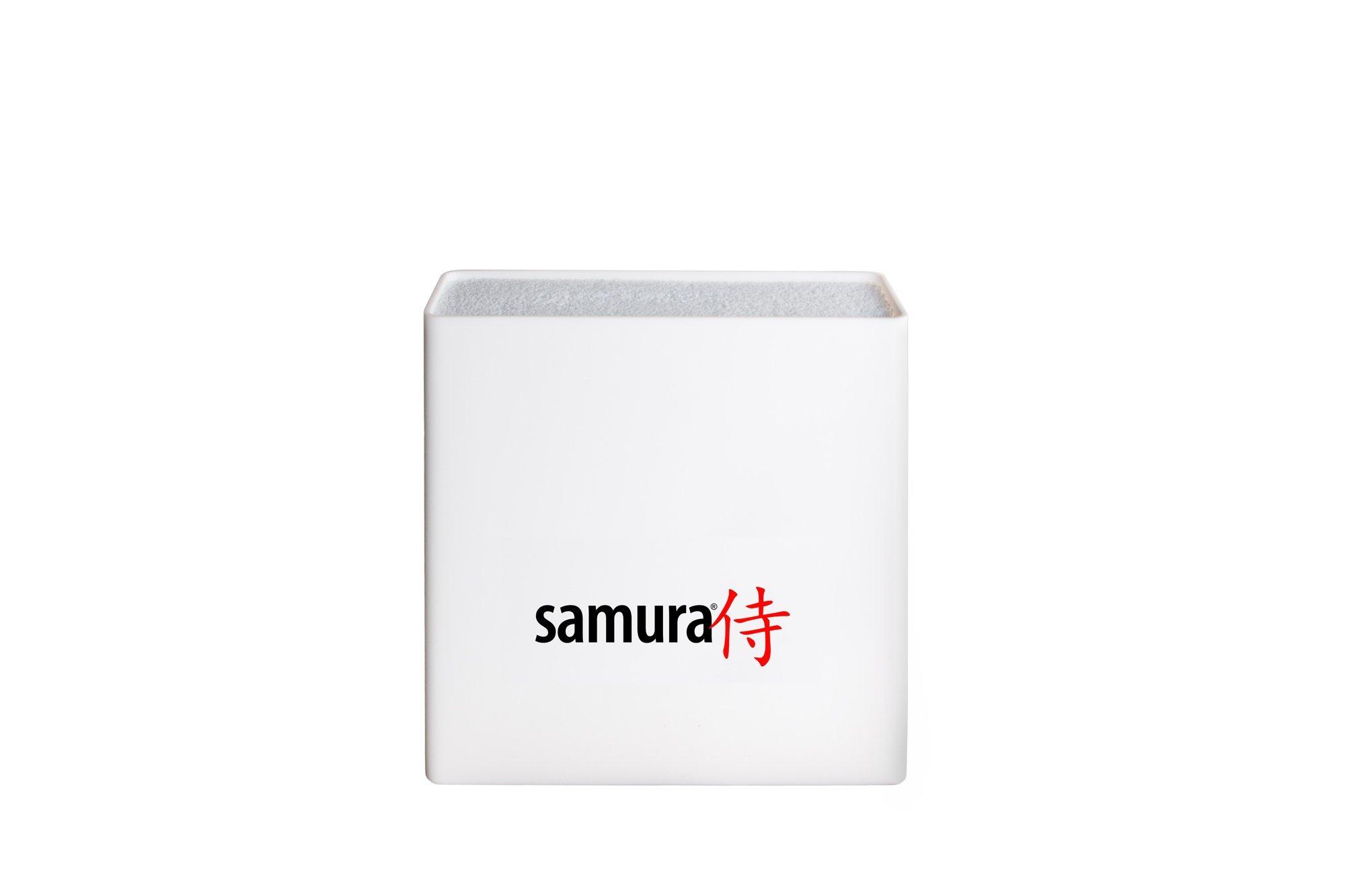 Подставка универсальная для ножей Samura, 230x225x82 мм, пластик (белая)