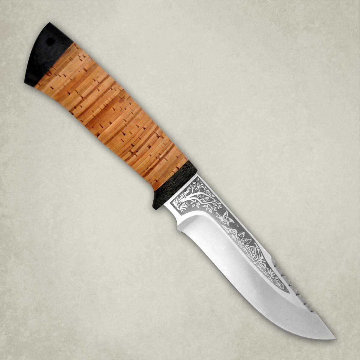 Нож АиР Стрелец, сталь ЭП-766, рукоять береста недорого