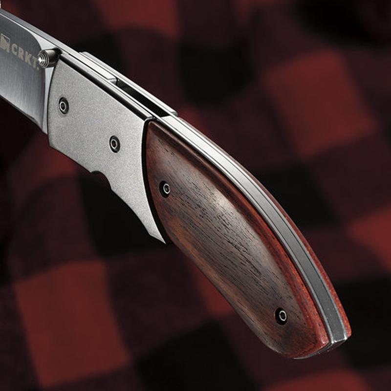 Фото 8 - Складной нож CRKT Kommer 30-30, сталь 1.4116, рукоять Эбеновое дерево